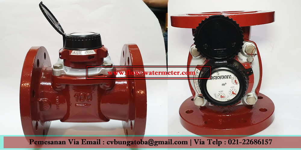 Flow meter air panas sensus 130 Derajat | Water meter air panas 4 inch